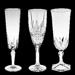 Flûte à champagne Vintage style cristal