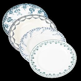 Petite assiette Vintage bleu vert