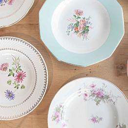 Assiette creuse Vintage Fleurie