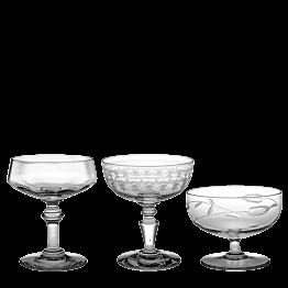 Coupe à champagne Vintage style cristal
