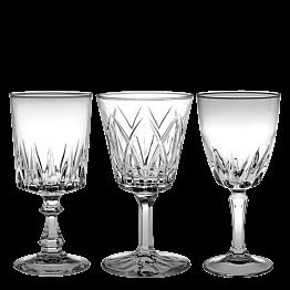 Verre à pied à eau Vintage style cristal