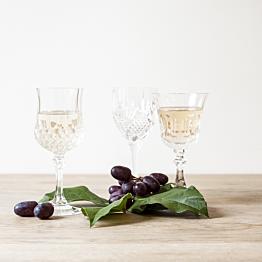 Verre à pied à vin Vintage style cristal