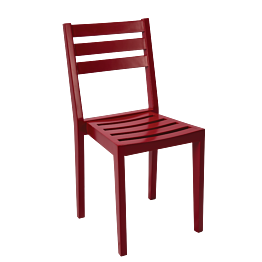 Chaise Pyramide rouge