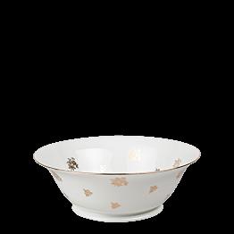 Saladier Vintage blanc et doré
