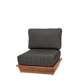 Fauteuil Lounge Grey 76 x 76 cm