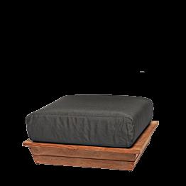 Pouf Lounge Grey 76 x 76 cm H 36 cm
