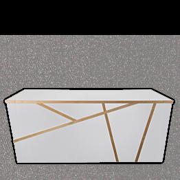 Buffet pliant Sakiro blanc 100 x 225 cm avec joues - Délai 96H