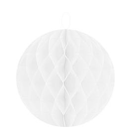 Boule décorative blanche en papier Ø 10 cm (lot de 2)