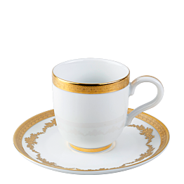 Tasse et sous-tasse à café Impériale 11 cl