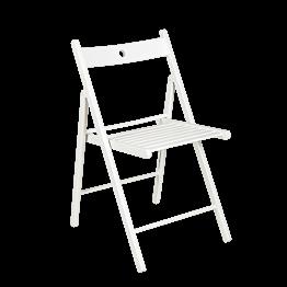 Chaise Minorca blanche pliante