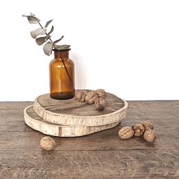 Rondelle de bois vintage grand format