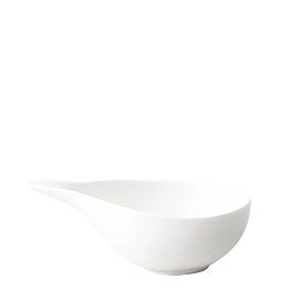 Saucière porcelaine blanche 19 x 9 cm H 6 cm