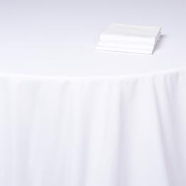 Nappe Alaska coton blanc uni 310 x 310 cm