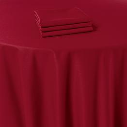 Nappe Marjorie rouge 310 x 310 cm ignifugée M1