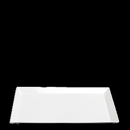 Plat porcelaine blanc 48 x 32 cm H 2,7 cm
