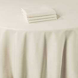 Serviette de table Marjorie beige 50 x 50 cm ignifugée M1