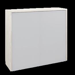 Banque d'accueil pliante blanche 120 x 35 cm H 110 cm