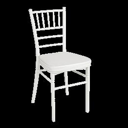 Chaise Bambou résine blanche
