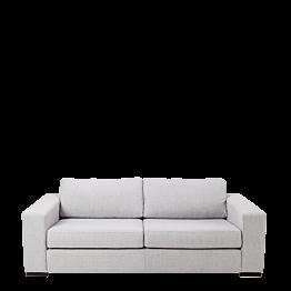 Canapé deux places Loft gris 196 x 80 cm H 73 cm