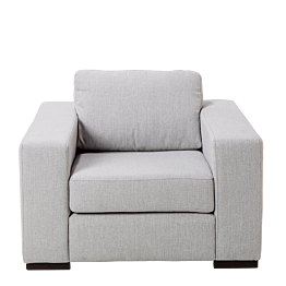 Fauteuil Loft gris 98 x 80 cm H 73 cm