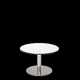 Table basse Hobby blanche Ø 60 cm H 40 cm