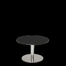 Table basse Hobby noire Ø 60 cm H 40 cm