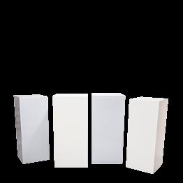 Mange-debout Cube Blanc & gris - ensemble de 4  - 96h