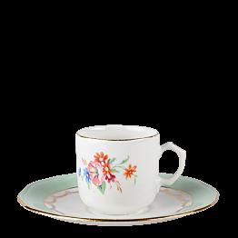 Tasse et sous-tasse à café Vintage