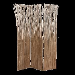 Paravent bois flotté 3 panneaux L 120 cm (40x3) H 170 cm
