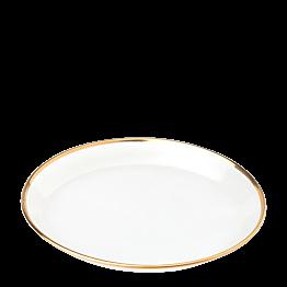 Assiette à pain en verre Filet Or Ø 12 cm