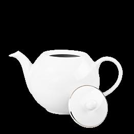 Théière blanche filet Argent 170 cl