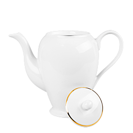 Cafetière blanche filet Or 140 cl