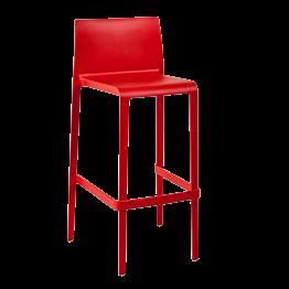 Chaise haute Sila rouge H 100 cm