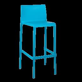 Chaise haute Sila bleue H 100 cm