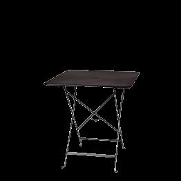 Table Trocadéro carrée noire 70 x 70 cm