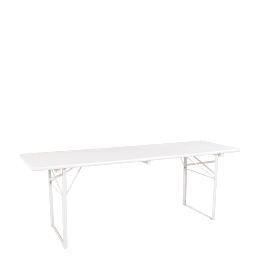 Table Kermesse blanche 70 x 220 cm
