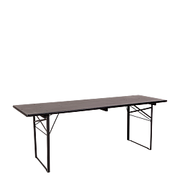 Table Kermesse noire 70 x 220 cm H 78 cm