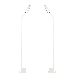 Lot de 2 lampadaires multidirectionnels autonomes H 230 cm 24h
