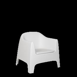 Fauteuil Lalisse blanc 89 x 84 x 122 cm