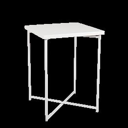 Mange-debout croisé blanc plateau blanc 65 x 65 cm H 90 cm