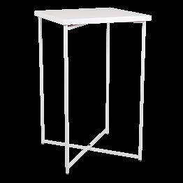 Mange-debout croisé blanc plateau blanc 65 x 65 cm H 110 cm