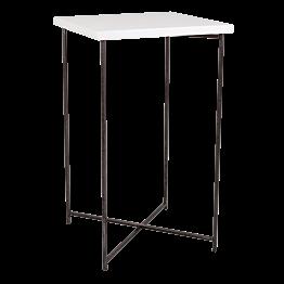 Mange-debout croisé acier plateau blanc 65 x 65 cm H 110 cm