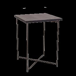 Mange-debout croisé acier plateau noir 65 x 65 cm H 90 cm