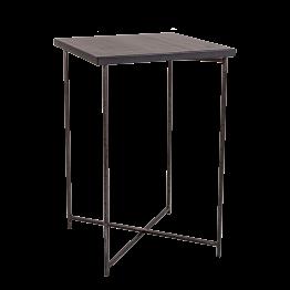Mange-debout croisé acier plateau noir 65 x 65 cm H 100 cm