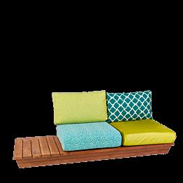 Canapé Lounge Ibiza 76 x 204 cm H 70 cm
