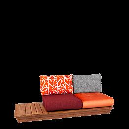 Canapé Lounge Katmandou 76 x 204 cm H 70 cm
