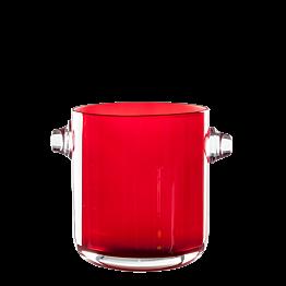 Seau à glace rouge Ø 13,5 cm H 15 cm