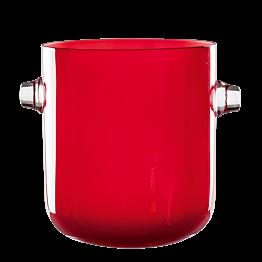Seau à champagne rouge Ø 19 cm  h 21,5 cm