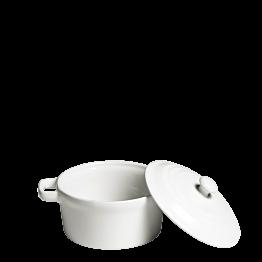 Cocotte individuelle blanche avec couvercle Ø 10 cm 25 cl