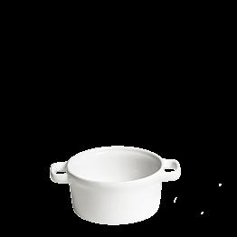Cocotte individuelle blanche Ø 10 cm 25 cl